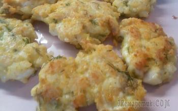 Рубленые котлеты из курицы с рисом и сыром. Видео рецепт