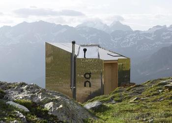 Домик площадью 19 м2 в горах Швейцарии.