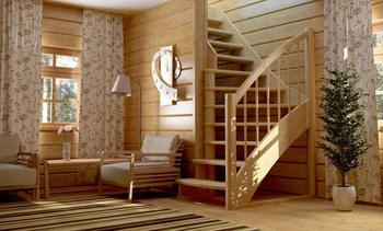 Деревянные лестницы в доме - красота и комфорт