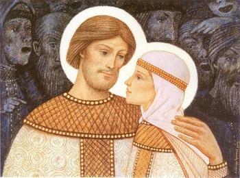 Покровители влюбленных святые Петр и Феврония, или Славянская альтернатива Дню святого Валентина