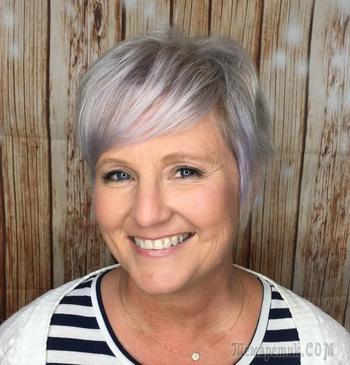 19 коротких стрижек для женщин старше 50 с округлыми формами лица