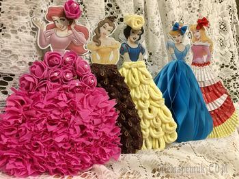 Платье для принцесс. Соты из бумаги. Часть 2