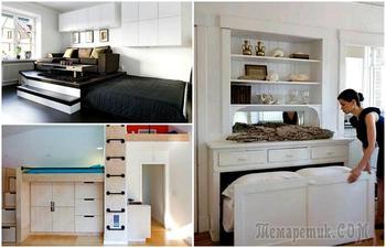 Спальное место в малогабаритке: 17 крутых конструкций для комфорта и экономии пространства