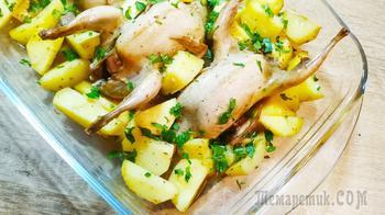 Горячее блюдо для всей семьи! Сочные и нежные перепела с картофелем в духовке!