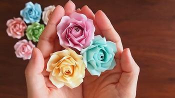 Необыкновенные розы из обычной бумаги