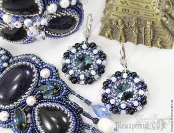 Плетение круглых сережек из риволи Сваровски