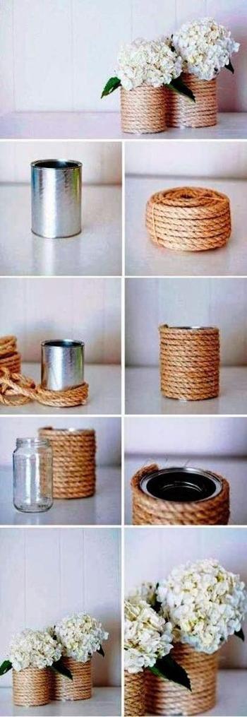 Идеи применения обыкновенной верёвки в интерьере
