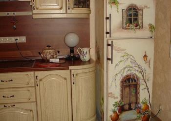 Декорируем старую кухонную мебель в технике декупаж