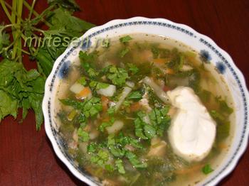 Кладовая здоровья: суп из крапивы со снытью