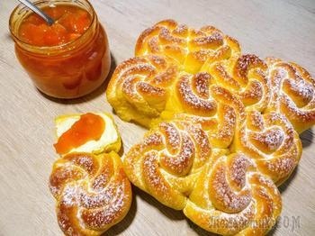 Абрикосовое тесто для булочек