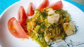 Что в сковороде? Вкуснейший обед из кабачков и курицы