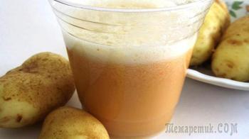 Сок картофеля при гастрите с повышенной кислотностью: применение, эффективность