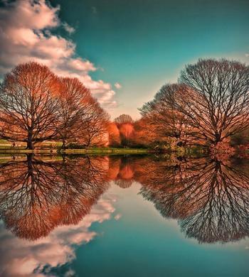 Головокружительно красиво: зеркальные пейзажи и идеальные линии, созданные самой природой