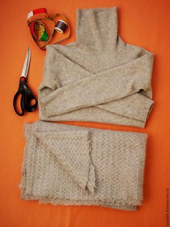 Переделка свитера в стильное пончо