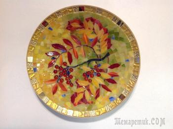 "Мастер-класс ""Декоративная тарелка, стеклянная мозаика"""