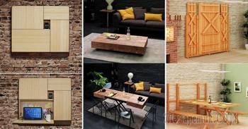 20 примеров трансформирующейся мебели для малогабаритной квартиры
