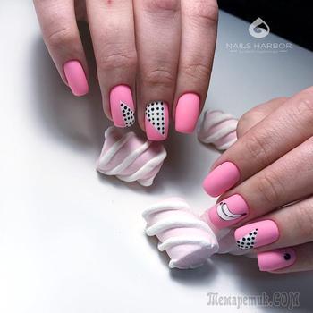 30 Восхитительных вариантов маникюра с розовым оттенком