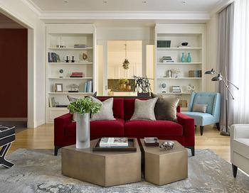 Изысканная современная классика в интерьере квартиры в Москве