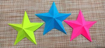 Объемная звезда из бумаги своими руками. Как сделать звезду оригами
