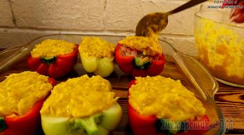 Фаршированный перец в духовке видео-рецепт