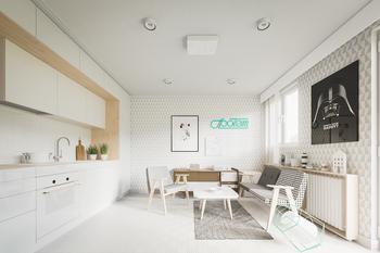Светлые апартаменты 20 кв.м, которые остались от бабушки