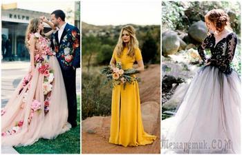 19 оригинальных свадебных нарядов, которые станут чудесной альтернативой традиционному белому платью
