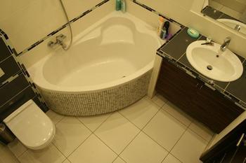 Ванная: плитка и фасадная шпатлевка