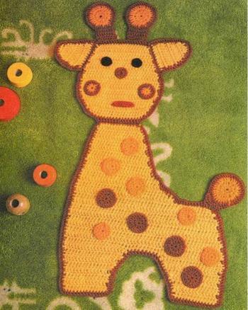 Схемы вязаных и плетеных ковриков