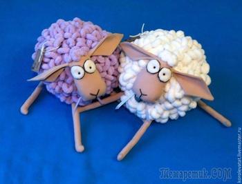 Шьем пушистую овечку