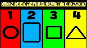 Тест на темперамент: выберите фигуру и узнайте кто вы