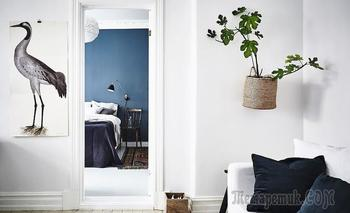 Скандинавская квартира с элементами шебби-шика