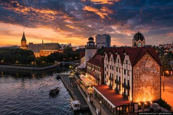 Калининград с высоты — самый европейский город России