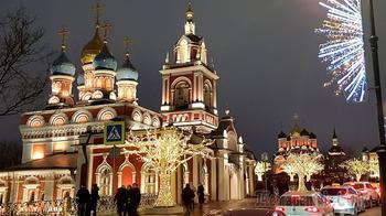 Москва новогодняя. 05. По Варварке к парку Зарядье
