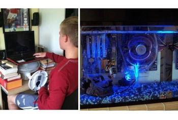 Гениальные инженерные решения по охлаждению компьютера в жару