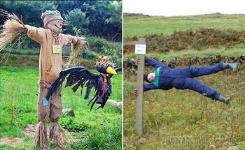 Охранники сада и поля: 17 примеров оригинальных и забавных огородных пугал