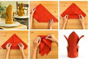10 способов украсить праздничный стол красиво сложенными салфетками