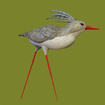 Мозаичные скульптуры птиц
