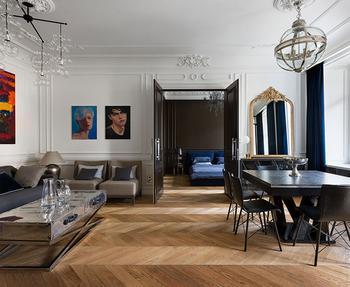 Квартира в современном парижском стиле в Киеве