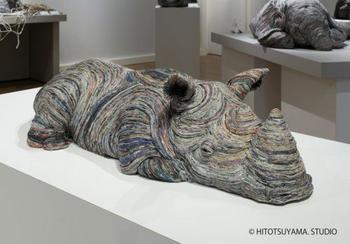 Скульптуры животных из старых газет
