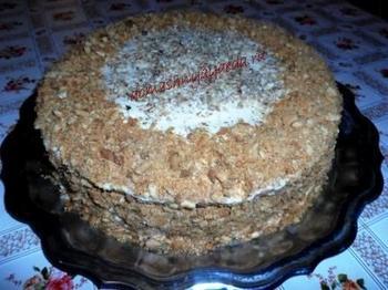 """Медовый торт """"Рыжик"""" со сметанным кремом"""