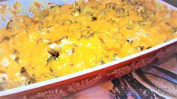 Запеченная в духовке цветная капуста с грибами под сыром.