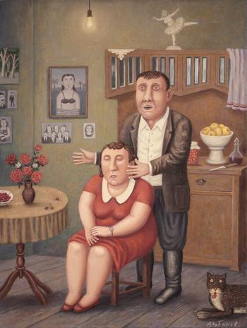 20+ картин, Владимира Любарова который будто подсматривает за жизнью простых людей через замочную скважину