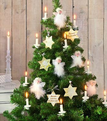 Рождественские ангелы и новогодние звезды своими руками