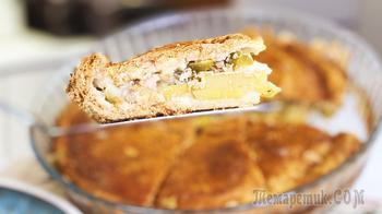 Царский русский пирог Курник с курицей и картошкой в духовке