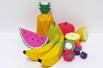 Как сделать объемные фрукты из бумаги