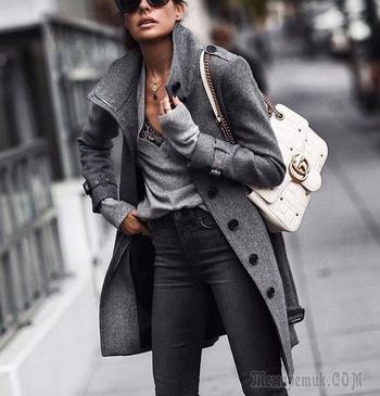30 модных образов в сером цвете для знающих себе цену женщин