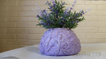 Нежнейшая ваза из бетона и шпатлевки своими руками