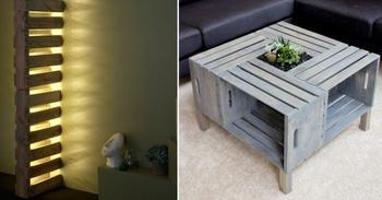 Интересные идеи мебели из паллет