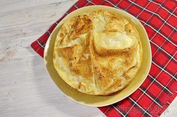 Быстрый пирог из лаваша. Очень вкусный, быстрый пирог из лаваша, куриной грудки и овощей.