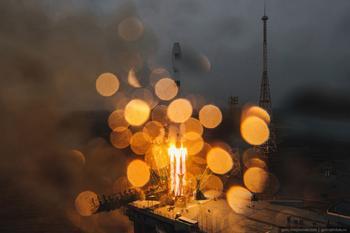 Космодром Байконур — запуск ракеты «Союз-2»